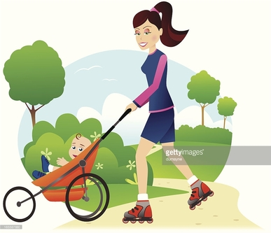 exercise with baby stroller