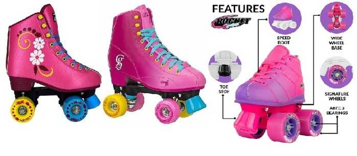 Pink Roller Skates For Women, Girl, Kids, Toddler, Youth Review
